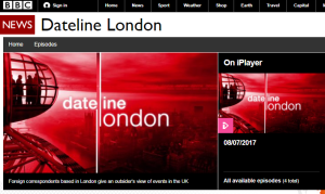 BBC responds to complaint about 'Dateline London'