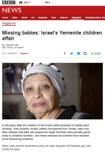 BBC's Knell promotes unsupported allegations in Yemenite children story