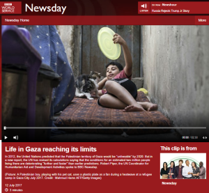 BBC WS 'Newsday' listeners get warped view of Gaza electricity crisis