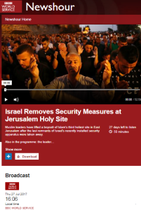 BBC WS passes up the chance to tell listeners about PA incitement