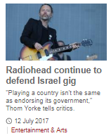 BBC Music again covers a BDS story without explaining that campaign's agenda