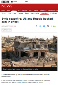 Superficial BBC News reporting on southern Syria ceasefire