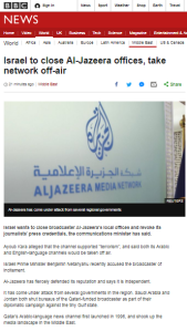 BBC's Israel-Al Jazeera row reporting displays double standards – part one