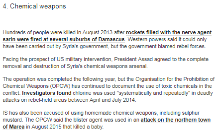 Are BBC audiences getting the full picture on Syria's chemical weapons?