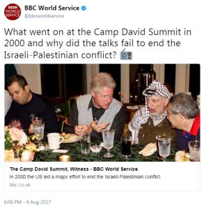 BBC WS history show 'explains' Camp David summit failure