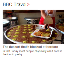 BBC Travel yet again dishes up political narrative in a food item