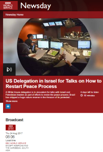 BBC WS Newsday's one-sided 'peace process' reporting – part one