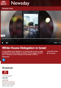 BBC WS Newsday's one-sided 'peace process' reporting – part two