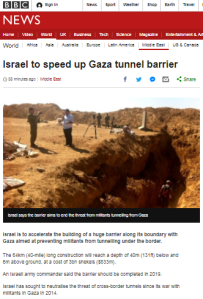 BBC News conceals part of a story on Hamas tunnels