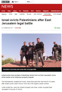 Political NGOs and dissonance in BBC report on Jerusalem eviction