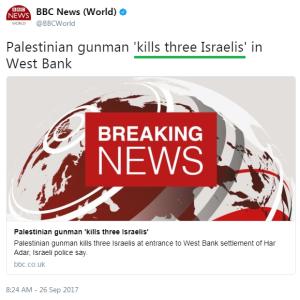BBC editorial policy on terror continues in Har Adar attack report