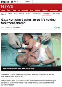 No BBC follow-up on story used to mislead on Gaza medical services