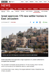 BBC practice of repeat reporting of Israeli planning permits continues