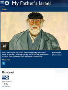 BBC Radio 4 puff piece on an anti-Zionist