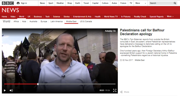 BBC's Bateman amplifies PLO's Balfour agitprop