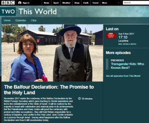 BBC's Corbin sidesteps prime issues in Balfour reports – part one