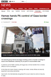 BBC News continues to conceal Hamas refusals to disarm