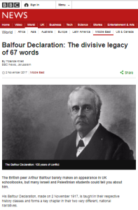 More BBC Balfour Declaration centenary reporting from Yolande Knell – part one