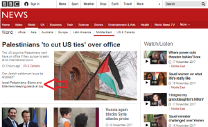 "Guess what the BBC News website tells audiences is ""preventing peace"""