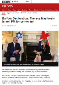 BBC report on UK Balfour dinner follows standard formula