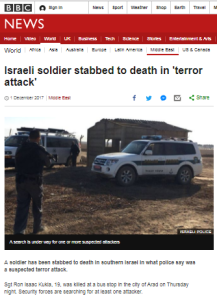 BBC inaccurately paraphrases Israeli officials