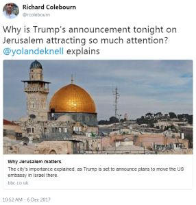 Inaccuracy and omission in BBC backgrounder on Jerusalem