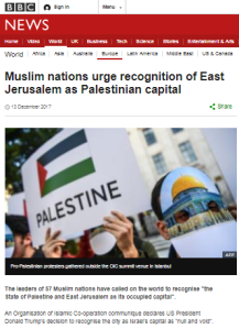 BBC reports the parts of Abbas' OIC speech that fit its narrative