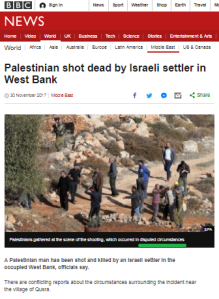 How did the BBC portray a story about an attack on Bar Mitzva hikers?
