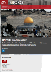 Reviewing BBC coverage of the UN GA Jerusalem vote – part two