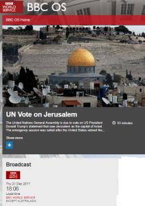 Reviewing BBC coverage of the UN GA Jerusalem vote – part two