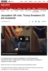 Reviewing BBC coverage of the UN GA Jerusalem vote – part one
