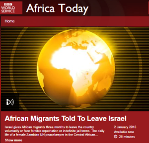 BBC policy on use of term migrants ignored in WS report about Israel