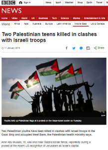 BBC News continues to blame Palestinian violence on US