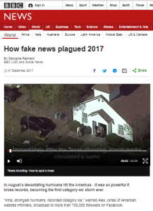 BBC News report on 2017 'fake news' excludes its own