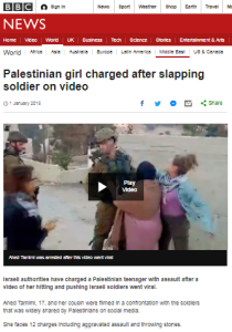 BBC News omits a relevant part of the Tamimi charges story