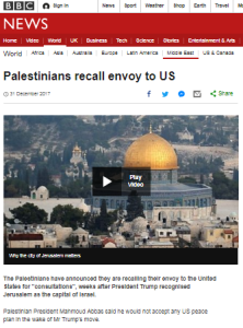 BBC News reports one story about a PLO envoy, ignores another