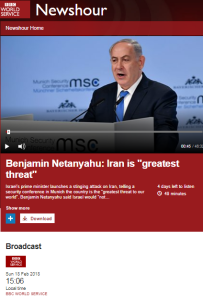 BBC WS 'Newshour' framing of Iranian activity in Syria – part one
