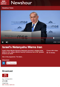 BBC WS 'Newshour' framing of Iranian activity in Syria – part two