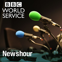 Mixing music and politics on BBC WS 'Newshour'