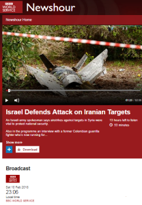 BBC WS Newshour coverage of Iran drone story – part two