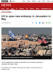 BBC ignores second Jerusalem embassy announcement