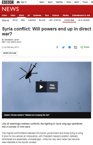 BBC News again claims Israeli involvement in Syria's war