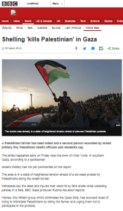 BBC News claims Gaza stone throwers engaged in 'peaceful demonstrations'