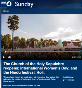 BBC R4 'Sunday' adds more confusion to Jerusalem church story