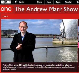 BBC's ECU upholds 'Andrew Marr Show' complaint