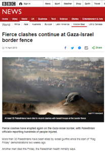 BBC report on latest Gaza violence follows established pattern