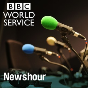 BBC WS 'Newshour' coverage of Gaza mortar and rocket attacks