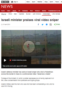 BBC News promotes political NGO's commentary on Gaza video