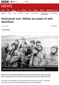 Another Abbas speech and more selective BBC reporting
