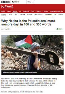 The BBC's double helping 'Nakba' backgrounder